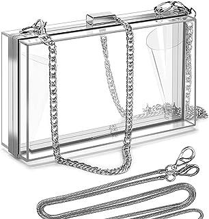 Clear Purse Acrylic Box Evening Clutch Bag Crossbody Shoulder Handbag for Women