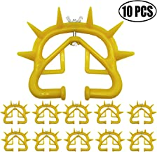 TIHOOD 10PCS Plastic Calf Cow Cattle Nose Ring Weaning Weaner Anti Sucking Milking Stop Farm Products Yellow