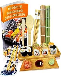 comprar comparacion Kit para Hacer Sushi - Esterilla de Enrollar Sushi de Bambú Set de 11 Piezas - 2 Esteras, 5 Pares de Palillos con Bolsita,...