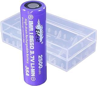 Efest(イーフェスト) 【 電子タバコ用 】 Efest IMR18650 2500mAh 35A フラットトップ1本付バッテリーケース IMR18650 2500mAh 35A FT/Battery case