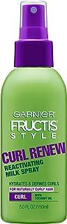 Garnier Fructis Style Curl Renew Reactivating Leche Spray para cabello rizado, 5 onzas (el embalaje puede variar)