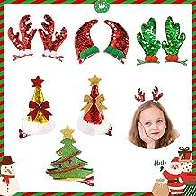 1x 8cm Christmas Tree Bow Hairpin Children Santa Claus Snowman Hair Clip M6B0