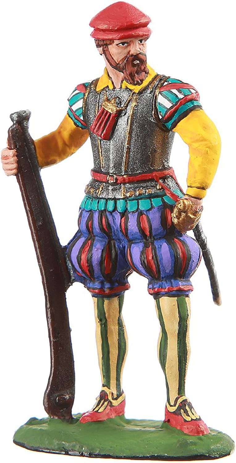 Tin Toy Soldier Portuguese Musketeer hand painted metal sculpture miniature figurine 54mm  11.03
