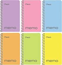 """Mead Small Notebook, 24 Pack of pocket notebook 3x5 """" College Ruled Small Memo Pad Wirebound 60 Sheets, Pastel Colors of M..."""