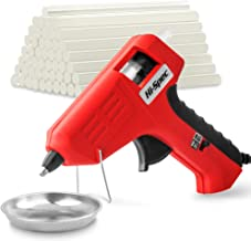 Hi-Spec Dual Temperature Mini Hot Glue Gun with High & Low Dual Temp Settings and 50pc 7mm Glue Sticks for Modeling, Sealing, Arts & Crafts, DIY Projects and Quick Repairs Hot Melt Glue Gun Kit