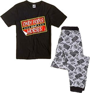 Mens Only Fools And Horses Pyjamas Pjs PJ Size Large Nightwear Pajama Gift Black Grey