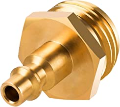 AIEX Heavy Duty Brass Winterizing Blowout Plug, Air Compressor Quick Connect Water Pressure Regulator for Camping Trailers Garden Water Hose (1.6x1.2x1.2 Inch)