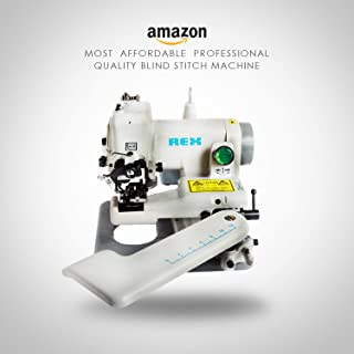 REX RX-518 All Metal Construction Portable Professional Grade Desktop Blindstitch, Cuffs, Failling Slack Bottoms, Hemming Dresses, Skirt and Coat Bottoms, Draperies, Negligees, Undergarments, Lapel Padding, Blouses Sleeves Machine