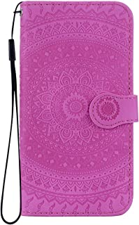 Reevermap Samsung Galaxy 2018 Case Leather  Protective Wallet Flip Embossed Mandala Premium Kickstand Magnetic Buckle Notebook Cover for Samsung Galaxy 2018  Purple