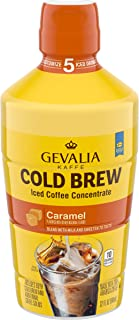 Gevalia Caramel Iced Cold Brew Coffee Concentrate (32oz Bottle)