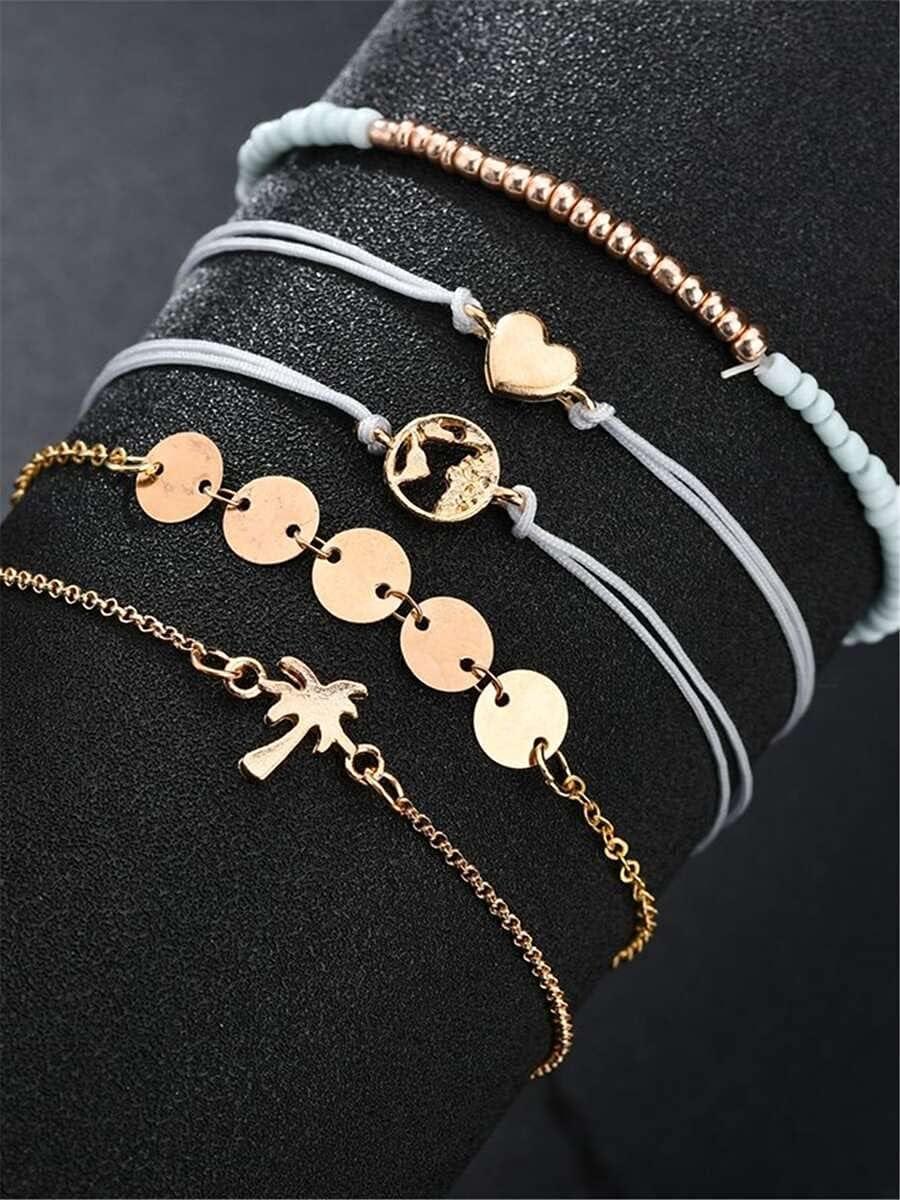 trend rank Sensecrol Charm Bracelets 5pcs Sales of SALE items from new works Disc Decor Color : Mult Bracelet
