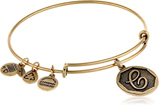 gold bracelet with initial charm