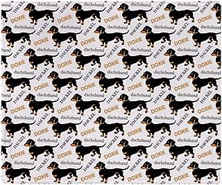 CafePress-Dachshund Pattern-Soft Fleece Throw Blanket