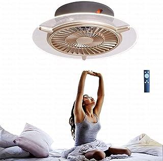 Ventilador Lámpara De Techo Ventilador De Techo Regulable Luz De Ventilador Con Iluminación Y Control Remoto Ventilador Redondo LED Luz De Techo Lámpara Colgante Para Sala De Estar Comedor Dormitorio