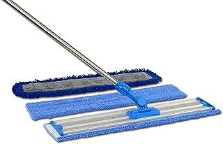 "24"" Professional Microfiber Mop | Stainless Steel Handle | Premium Mop Pads"