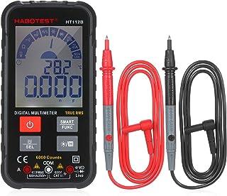 OWSOO Multímetro inteligente TRMS com 6000 contagens Display LCD digital AC/DC Voltímetro Amperímetro Teste do ohmímetro D...