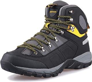 GRITION Homme Chaussures de Randonnée Sports de Imperméable Boots Confortable et Respirant Hautes Promenades Bottes Trekki...