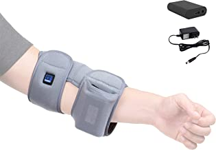 [Portable Battery] Venture Heat Infrared Elbow Heating Pad for Pain Relief Recovery - Heated Wrap Support Brace for Tendonitis, Arthritis, Join Pain Injury, Tennis Elbow
