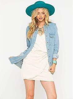 Sadie Women's Sage The Label Ellery Trucker Denim Shirt Jacket