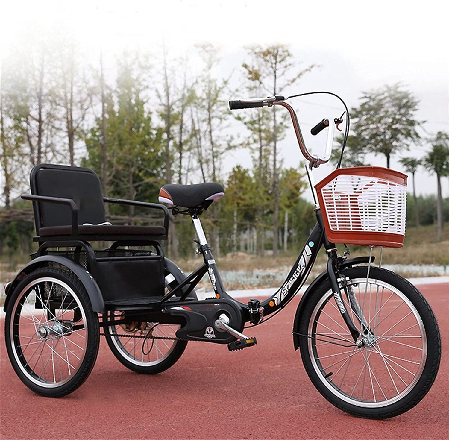 LVQING Tricycle Adult 20inch 2021 autumn and Recommendation winter new Elderly Parents Bicycle for 3 Wheel