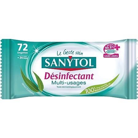 Sanytol - 33631325 - Lingettes Multi-Usages Désinfectantes x 72 lingettes