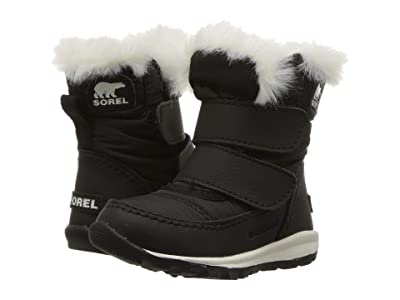 SOREL Kids Whitneytm Strap (Toddler) (Black/Sea Salt) Girls Shoes