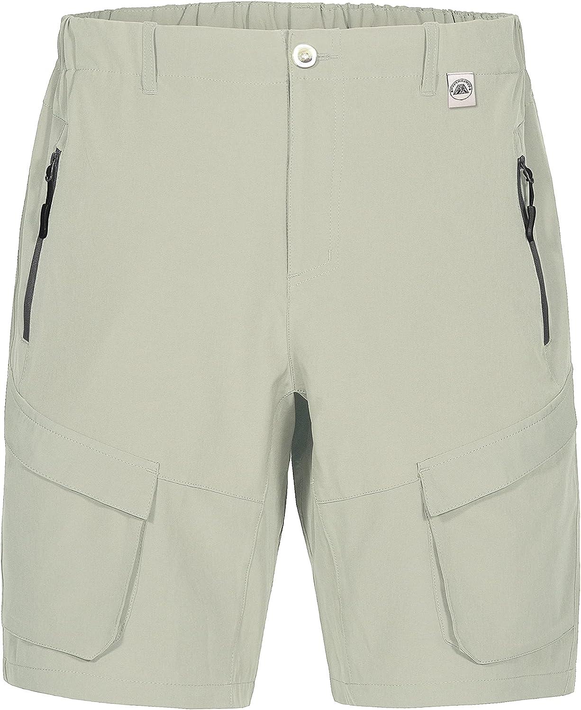 Mapamyumco Men's Quick Dry Stretch Cargo Hiking Shorts for