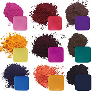 Candle Dye for 120Lbs Wax, Highly Concentrated Candle Making Supplies 9 Popular Colors for DIY Scented Candle - Glove + 10PCS Scoop Included