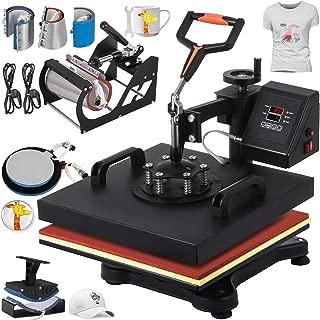 VEVOR Heat Press 12 X 15 Inch Heat Press Machine 8 in 1 Digital Multifunctional Swing Away Heat Press Machine for T Shirts Hat Mug Cap Plate(Gift T-Shirts and Stickers)