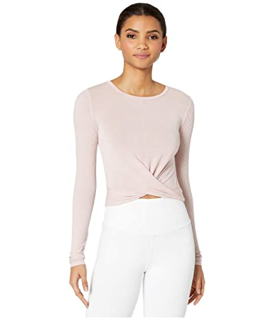 ALO Cover Long Sleeve Top (Pale Mauve) Women