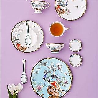 Ensemble de vaisselle, 11 pièces - ensembles de vaisselle pour 2, porcelaine d'os Ensembles d'assiettes et de bols de styl...