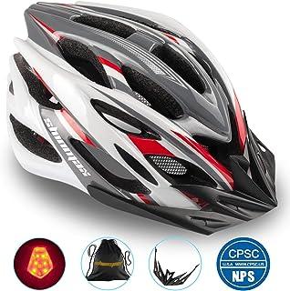 Shinmax Casco Bicicleta con Visera, Protección de Seguridad