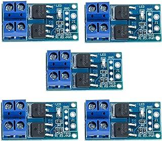 RUIZHI 5PCS DC 5V-36V 15A(最大30A)400WデュアルハイパワーMOSFETトリガースイッチドライブモジュール0-20KHzPWM調整電子スイッチ制御ボードモーター速度制御ランプ輝度制御