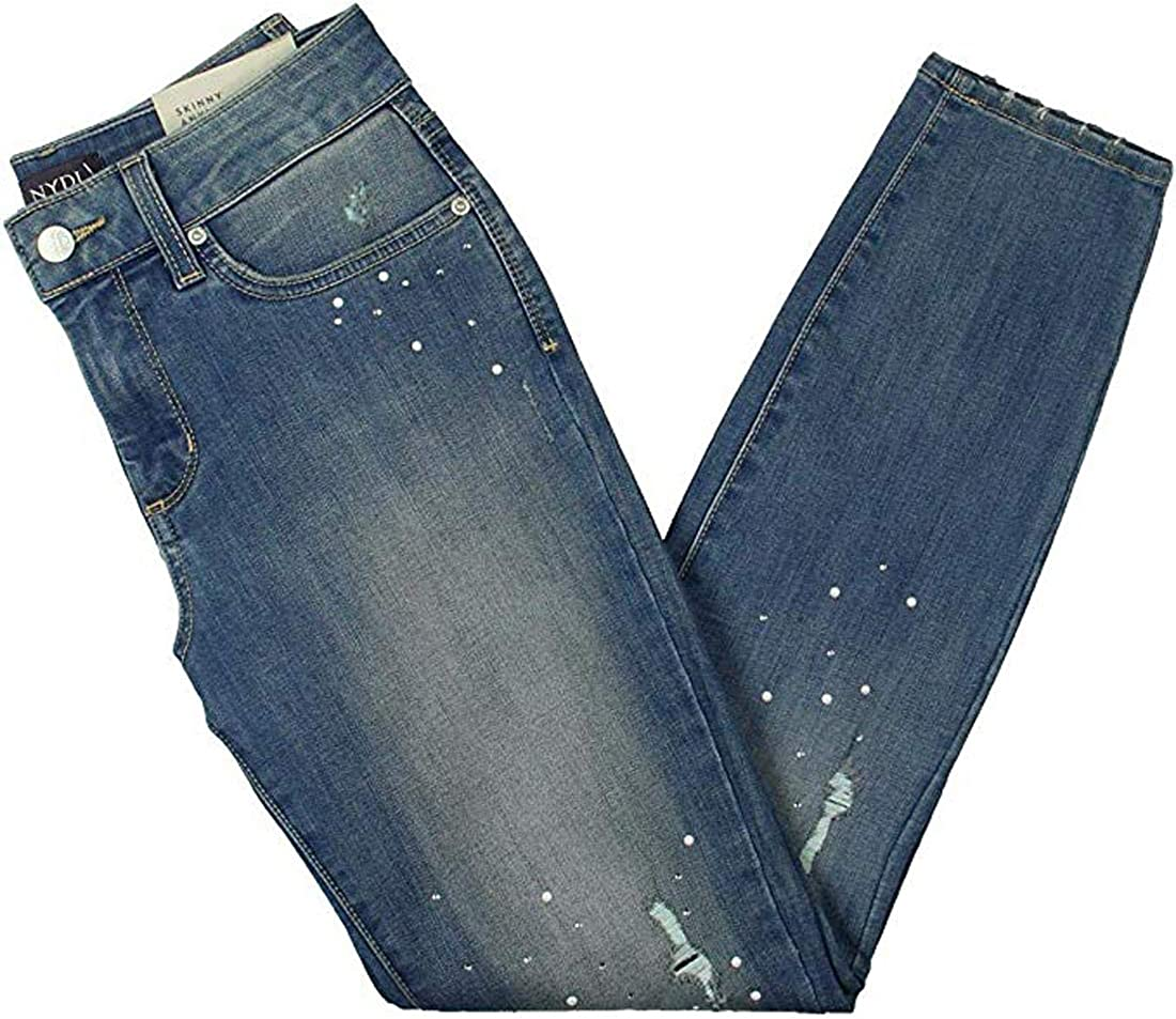 NYDJ Womens Ami Embellished Al sold out. Skinny Ankle Jeans 0 Marrak Luxury goods