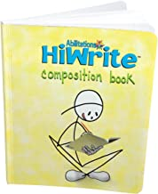 Abilitations 1330101 Hi-Write Composition Notebook, 160 Pages/80 Sheets, Yellow/White, 9-1/2 in L X 7-1/2 in W