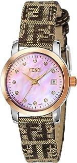 [フェンディ] 腕時計 ラウンドクラシコ ピンクパール文字盤 ダイヤ F218272DF 並行輸入品 ブラウン