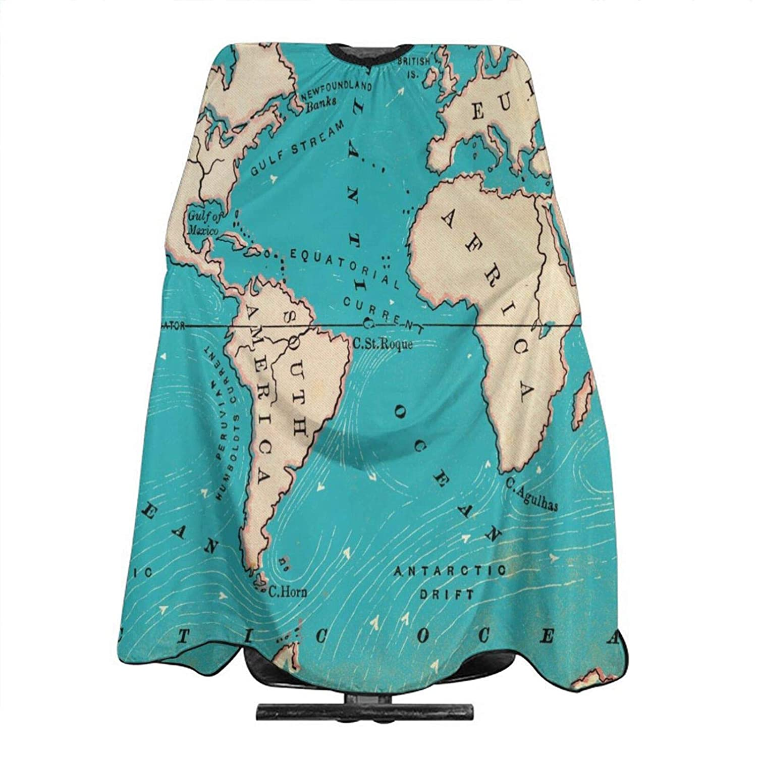 Locust Ocean Current Tapestry New mail SEAL limited product order Blue Cutting Capes Hair Map