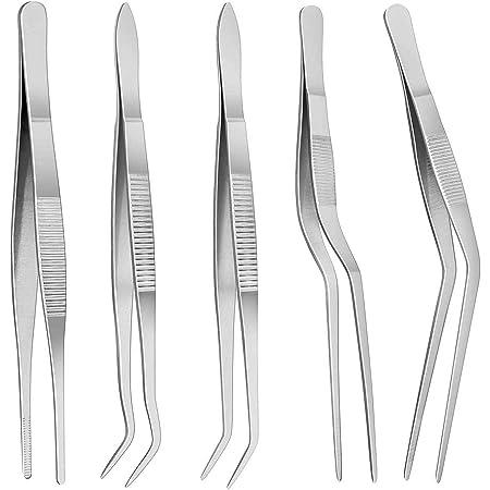 Mercer Culinary 6-12 pouces en acier inoxydable Offset Pince à épiler Précision Pinces Silve
