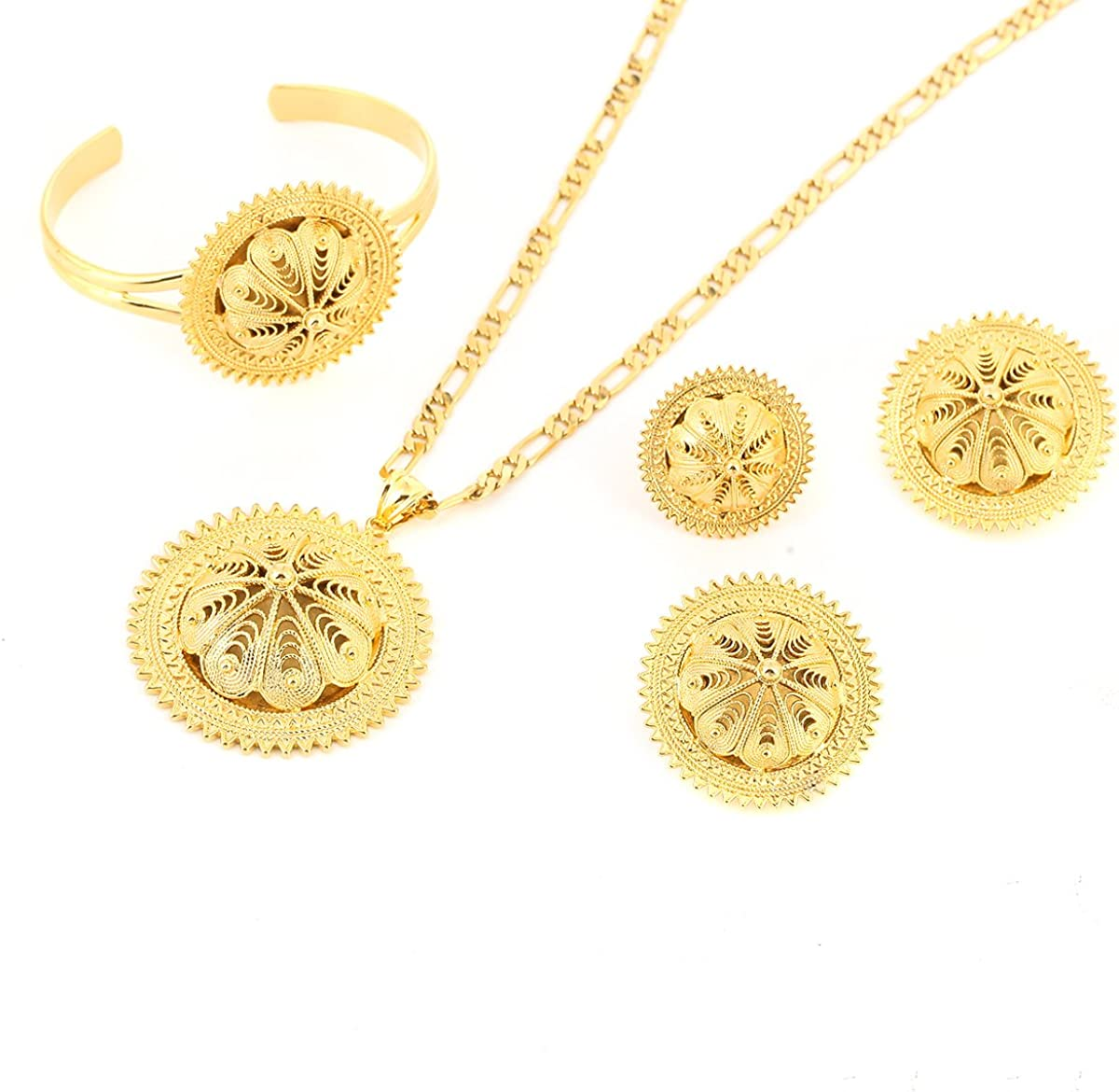 Ethiopian Wedding Jewelry Sets Joias Ouro Gold Filled Jewelry African Bridal Jewelry