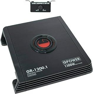$84 » Sponsored Ad - Gravity GR1300.1 Monoblock Car Audio Amplifier 2 Ohm Stable 1300 Watts Peak Power Class AB Technology MOSFE...