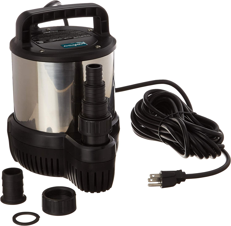 Active Aqua AAPC1020 内祝い Utility Sump Pump Black 8200 LPH 期間限定 GPH 2166