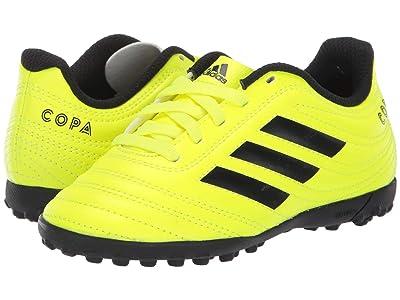 adidas Kids Copa 19.4 TF Soccer (Little Kid/Big Kid) (Solar Yellow/Black) Kids Shoes