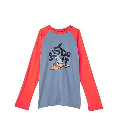 Nike Kids Just Do It Dinosaur Long Sleeve Hydroguard (Little Kids/Big Kids)