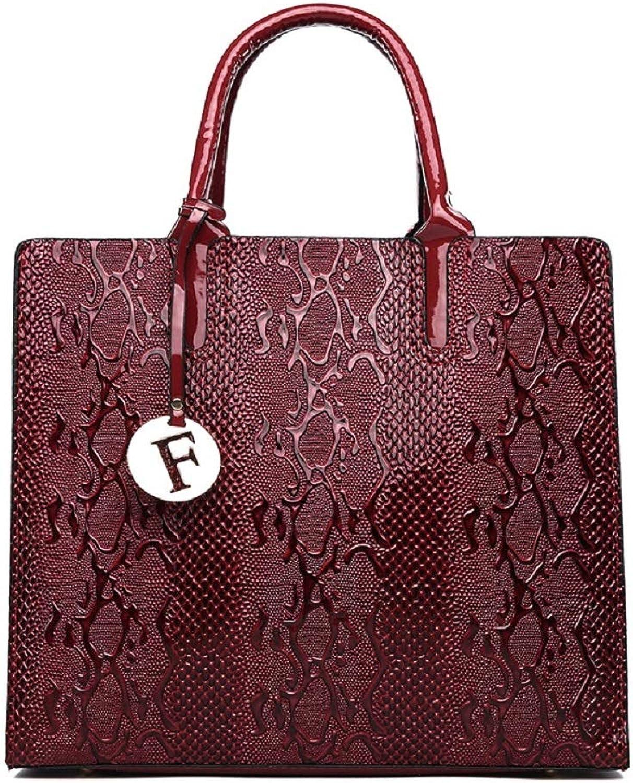 ZHRUI Europäische und Amerikanische Mode-Schlange Textur Tasche Schulter diagonal Weibliche Dame Tasche (Farbe   Rot) B07GPDDFGR  Wir haben von unseren Kunden Lob erhalten.