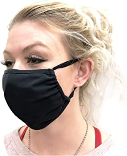 Reusable Mouth Mask with Adjustable Tie Behind Head Straps, Face Mask for Dust and Travel, Black