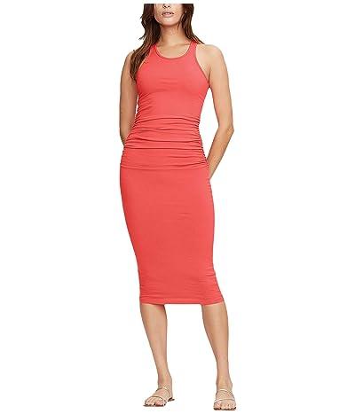 Michael Stars Racerback Dress w/ Shirring (Geranium) Women