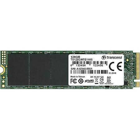 Transcend PCIe M.2 SSD (2280) 128GB NVMe PCIe Gen3 x4 3D TLC採用 5年保証 TS128GMTE110S