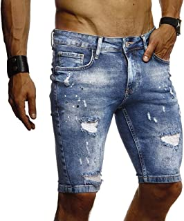 Leif Nelson LN9310 Men's Jeans Shorts Summer Jogger Shorts Jeans Chinos Cargo Bermuda Stretch Slim Fit