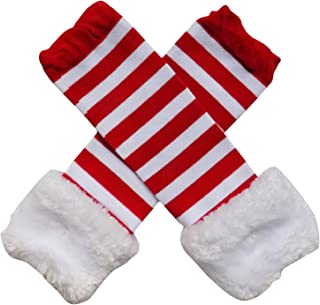 Faux Fur Christmas Holiday Winter Styles Leg Warmers Boot Tops, One Size, Baby, Toddler, Girl