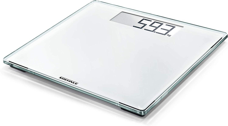 Soehnle Style Sense Comfort 100 Bascula de bano digital, color blanco